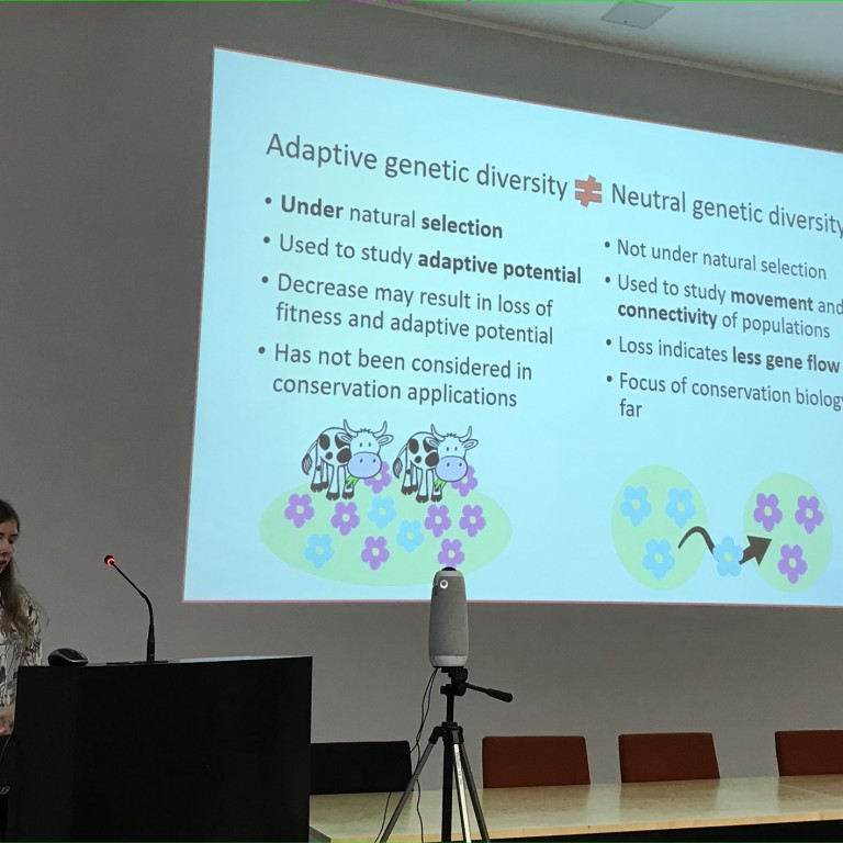 Iris in PhD students' conference 2020