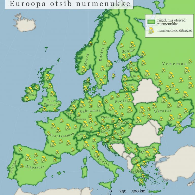Euroopa otsib nurmenukke 2021 osalevad riigid